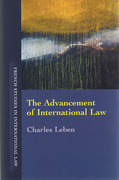 Cover of The Advancement of International Law
