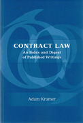 Cover of Contract Law: An Index and Digest of Published Writings