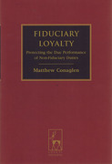 Cover of Fiduciary Loyalty: Protecting the Due Performance of Non-Fiduciary Duties