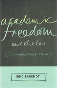 Cover of Academic Freedom and the Law: A Comparative Study