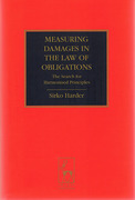 Cover of Measuring Damages in the Law of Obligations: The Search for Harmonised Principles