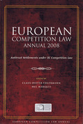 Cover of European Competition Law Annual 2008: Antitrust Settlements under EC Competition Law