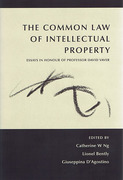 Cover of The Common Law of Intellectual Property: Essays in Honour of Professor David Vaver