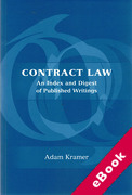 Cover of Contract Law: An Index and Digest of Published Writings (eBook)