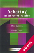 Cover of Debating Restorative Justice (eBook)