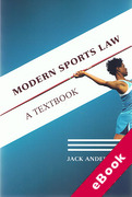 Cover of Modern Sports Law: A Textbook (eBook)