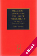 Cover of Measuring Damages in the Law of Obligations: The Search for Harmonised Principles (eBook)