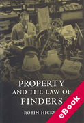 Cover of Property and the Law of Finders (eBook)