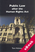 Cover of Public Law after the Human Rights Act (eBook)