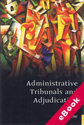 Cover of Administrative Tribunals and Adjudication (eBook)