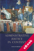 Cover of Administrative Justice in Context (eBook)