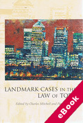 Cover of Landmark Cases in the Law of Tort (eBook)