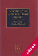 Cover of Constructive and Resulting Trusts (eBook)
