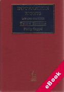 Cover of Information Rights: Law and Practice (eBook)