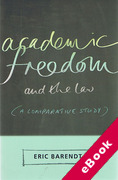 Cover of Academic Freedom and the Law: A Comparative Study (eBook)