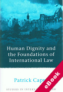 Cover of Human Dignity and the Foundations of International Law (eBook)