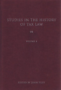 Cover of Studies in the History of Tax Law: Volume 4