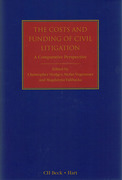 Cover of The Costs and Funding of Litigation: A Comparative Perspective