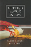 Cover of Getting a PhD in Law