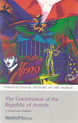 Cover of The Constitution of the Republic of Austria: A Contextual Analysis