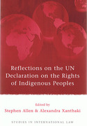 Cover of Reflections on the UN Declaration on the Rights of Indigenous Peoples