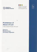 Cover of Prohibition of Abuse of Law: A New General Principle of EU Law