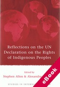Cover of Reflections on the UN Declaration on the Rights of Indigenous Peoples (eBook)