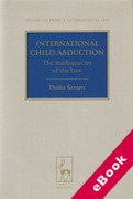 Cover of International Child Abduction: The Inadequacies of the Law (eBook)
