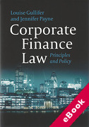 Cover of Corporate Finance Law: Principles and Policy (eBook)