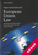 Cover of Wyatt and Dashwood's European Union Law 6th ed (eBook)