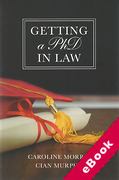 Cover of Getting a PhD in Law (eBook)