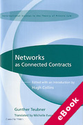 Cover of Networks as Connected Contracts: Edited with an Introduction by Hugh Collins (eBook)