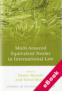 Cover of Multi-Sourced Equivalent Norms in International Law (eBook)