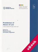 Cover of Prohibition of Abuse of Law: A New General Principle of EU Law (eBook)