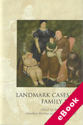 Cover of Landmark Cases in Family Law (eBook)