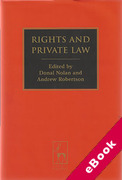 Cover of Rights and Private Law (eBook)