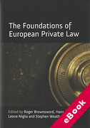 Cover of The Foundations of European Private Law (eBook)