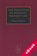Cover of The Principles of Personal Property Law (eBook)