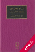 Cover of EU Law for UK Lawyers 2nd ed (eBook)