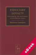 Cover of Fiduciary Loyalty: Protecting the Due Performance of Non-Fiduciary Duties (eBook)