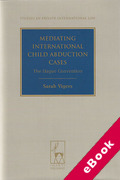 Cover of Mediating International Child Abduction Cases: The Hague Convention (eBook)