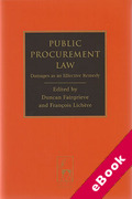 Cover of Public Procurement Law: Damages as an Effective Remedy (eBook)
