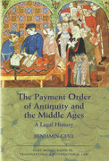 Cover of The Payment Order of Antiquity and the Middle Ages: A Legal History
