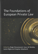 Cover of The Foundations of European Private Law