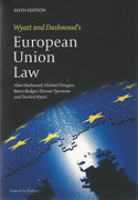Cover of Wyatt and Dashwood's European Union Law 6th ed