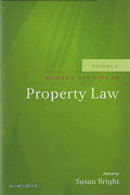 Cover of Modern Studies in Property Law: Volume 6
