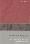 Cover of Insurance Law: Doctrines and Principles 3rd ed