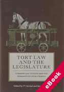 Cover of Tort Law and the Legislature: Common Law, Statute and the Dynamics of Legal Change (eBook)