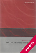 Cover of An Introduction to the Law on Financial Investment (eBook)