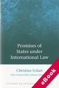 Cover of Promises of States under International Law (eBook)